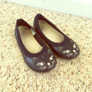 GapKids, Leather Kitty Ballet Flats, Size 11